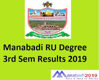 Manabadi RU Degree 3rd Sem Results 2019