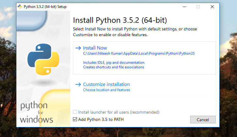 How to install python (64-bit) on windows 10 - the GEEK mode