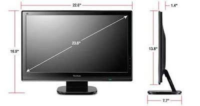 Dimensiones del monitor