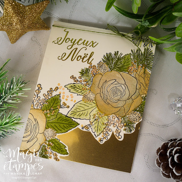Ensemble de cartes de Noël avec la collection Noël arrive Stampin' Up!