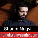 https://humaliwalaazadar.blogspot.com/2019/09/sharim-naqvi-nohay-2020.html