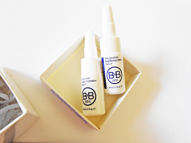 B&B labs Advanced Durian Hydration Serum B&B labs Mangosteen Brightening Detox Serum.