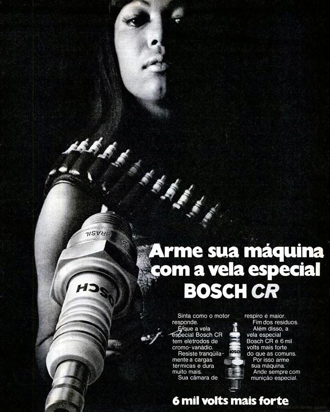 1971. Bosch.os anos 70; história da década de 70; Brazil in the 70s; propaganda carros anos 70; Oswaldo Hernandez;