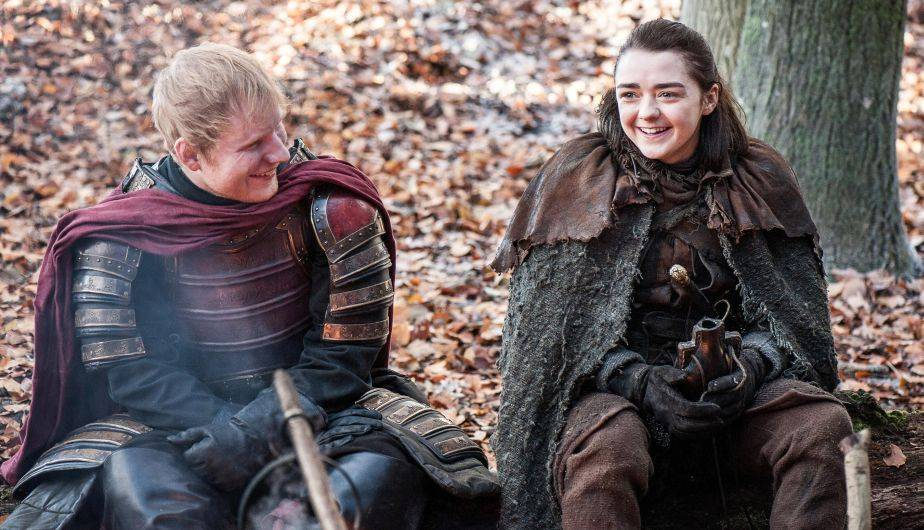 Ed Sheeran y Arya en 'Game of Thrones 7x01 Dragonstone'