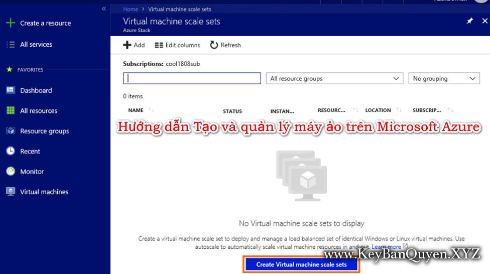 Hướng dẫn Tạo và quản lý máy ảo trên Microsoft Azure
