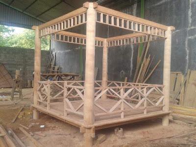 pembuatan gazebo