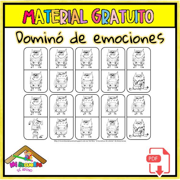 dominó de emociones para niños pdf