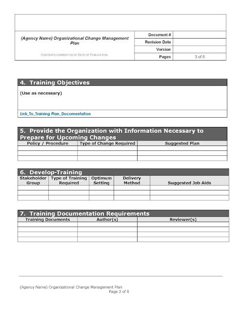 organizational change management plan template free download