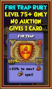 Fire Trap - Wizard101 Card-Giving Jewel Guide