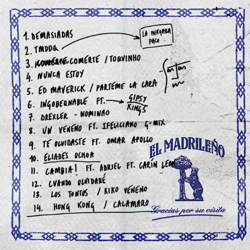 """C. Tangana ha anunciado el contenido de su nuevo disco, """"El Madrileño"""", que llegará el próximo 26 de febrero"""