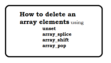 How to delete an array elements?