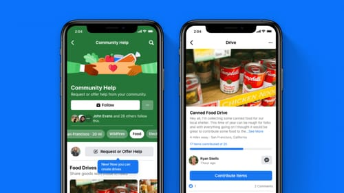 Facebook helps gather food for the needy