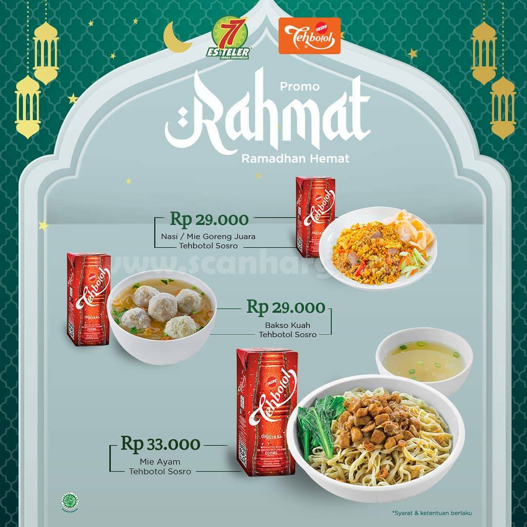 Es Teler 77 x Sosro Promo RAHMAT Ramadhan Hemat harga mulai Rp 29.000 per paket