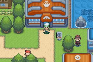 Pokemon Emerald Beautiful Remade para GBA Gimnasio Pokemon Ciudad Petalia