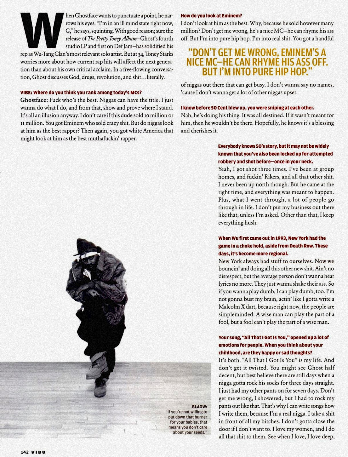 Ghostface Killah in Vibe Magazine (May, 2004) Page 2