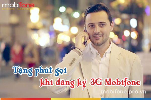 Tặng phút gọi cho khách hàng khi đăng ký các gói 3G Mobifone