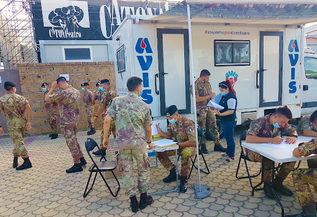 STRADE SICURE. I militari dell'Esercito donano sangue all'Avis