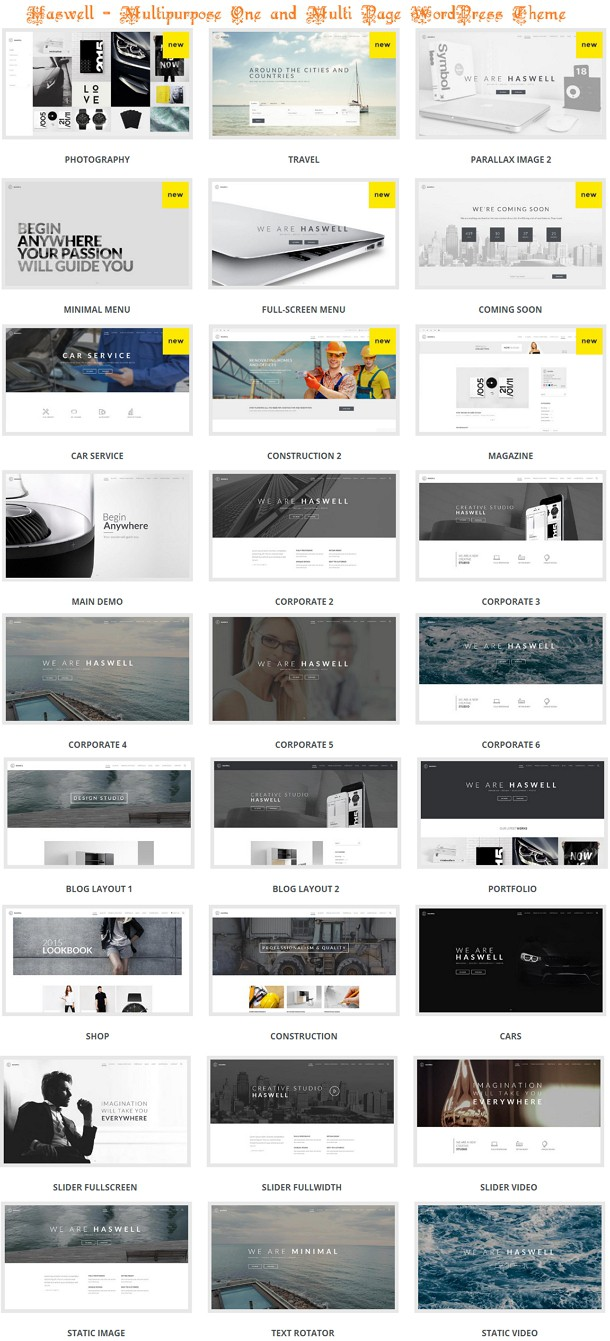 Multipurpose One & Multi Page WP Theme