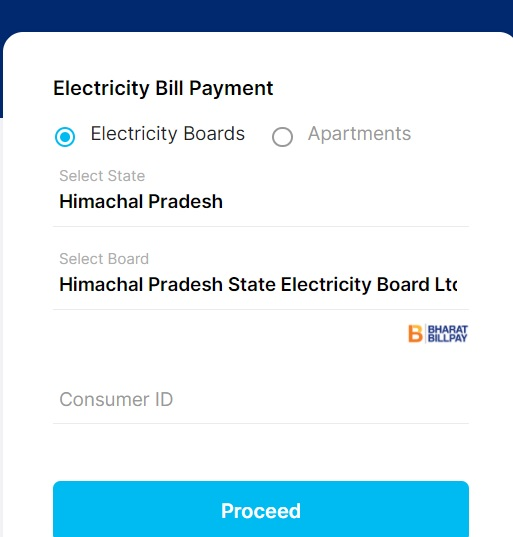 hpseb online payment