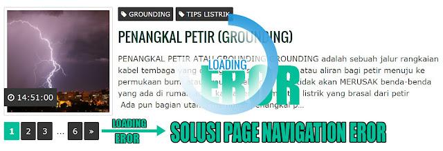 Solusi Numbered Page Navigation yang Eror