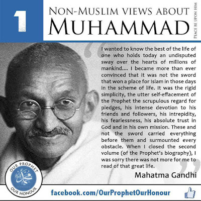 1 Mahatma Gandhi view about Prophet Muhammad (PBUH) by Ummat-e-Nabi.com