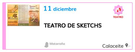 Teatro de sketchs en Calaceite