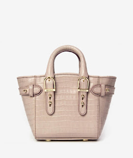 blush leather top hand bag
