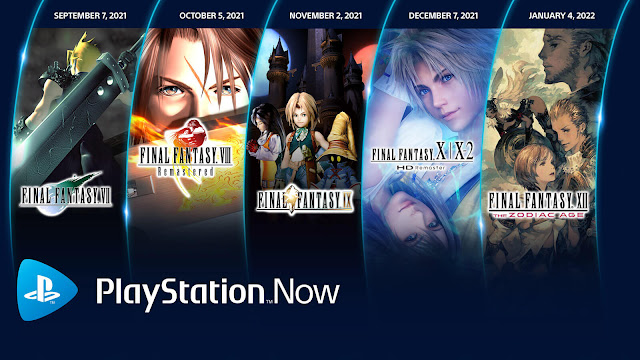 playstation now final fantasy 8 remastered x/x-2 hd zodiac age square enix pc ps4 ps5 lineup august 2021-2022 sony interactive entertainment
