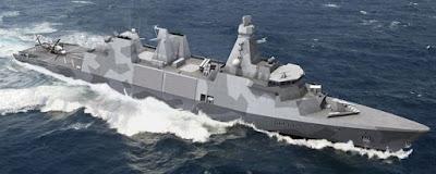 British warship