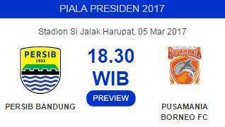 Pusamania Borneo FC Target Banyak Gol di Kandang Persib Bandung 5 Maret 2017