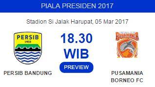 Prediksi Persib Bandung vs Pusamania Borneo FC - Minggu 5 Maret 2017