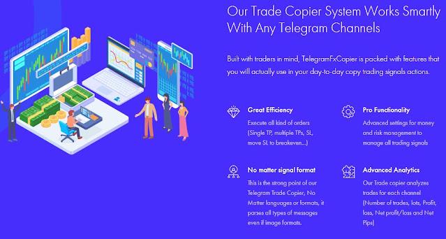 نسخ صفقات التداول عبر التيليغرام بشكل ألي وحقق أرباح من النسخ-telegramfxcopier Telegramfxcopier