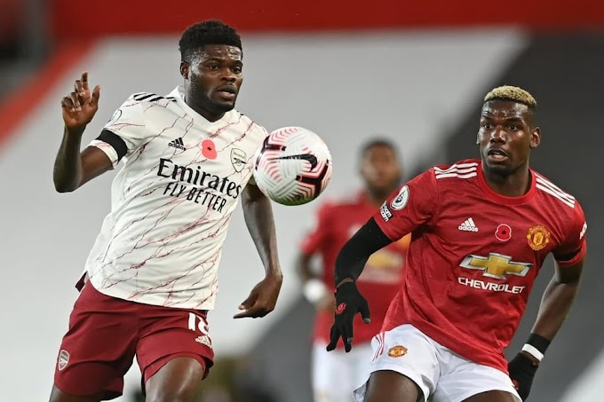 Thomas Partey pockets Paul Pogba & co as Arsenal beat Man United in the EPL