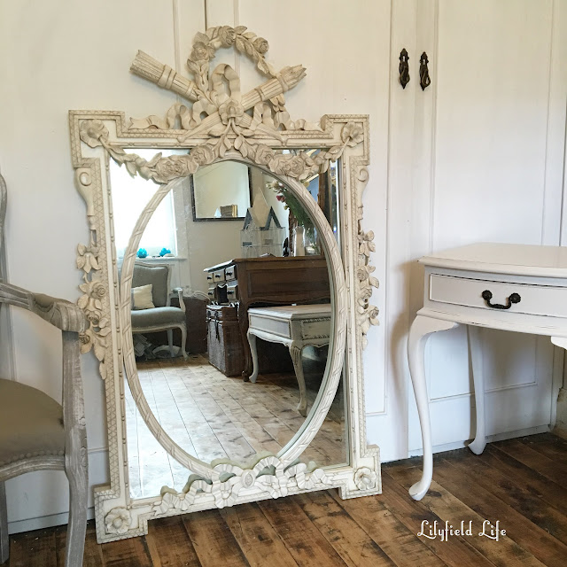 vintage french white mirror Lilyfield Life