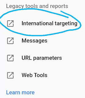 गूगल सर्च कंसोल में लक्षित देश टारगेट,  Search Console में लक्ष्य देश कैसे चुने - How to choose target country in search console
