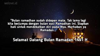 Kata Ucapan Menyambut Bulan Ramadhan 2020
