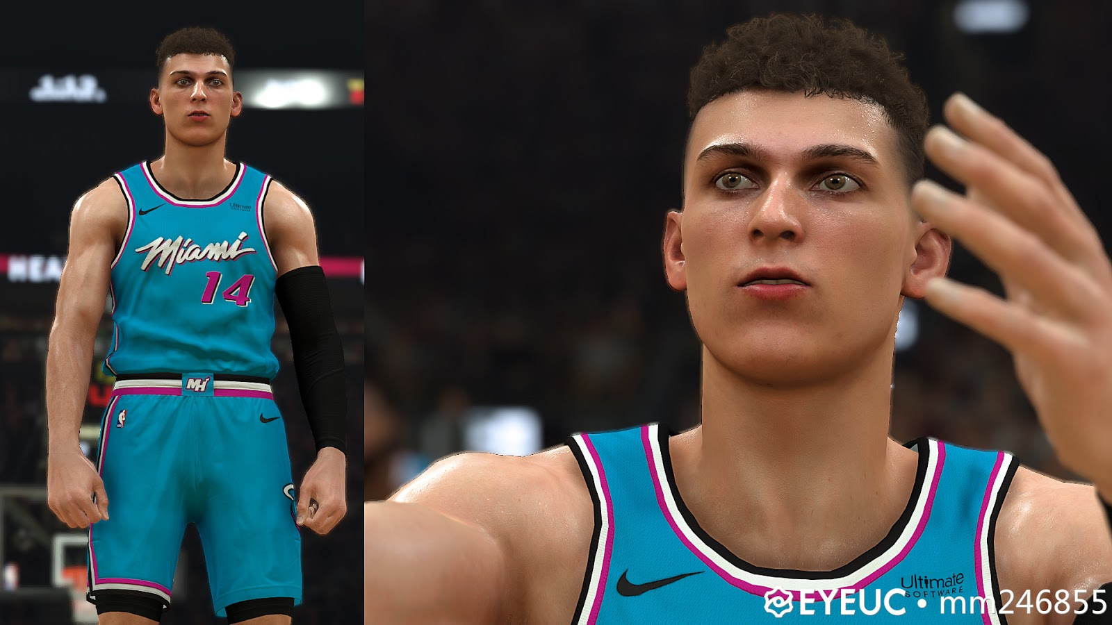 Tyler Herro Face Hair And Body Model By Dp For 2k20 Nba 2k Updates Roster Update Cyberface Etc
