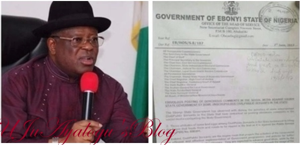 Anger as Ebonyi state allegedly bans civil servants from using social media