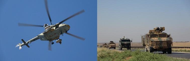 الشرطة العسكرية الروسية والقوات التركية تُسيران دورية عسكرية جديدة بريف الحسكة الشمالي