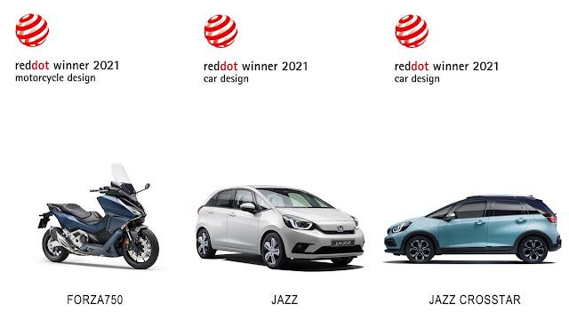 Τα Honda Jazz e:HEV, Jazz Crosstar & Forza 750 κέρδισαν επάξια στον διαγωνισμό RED DOT Awards 2021!