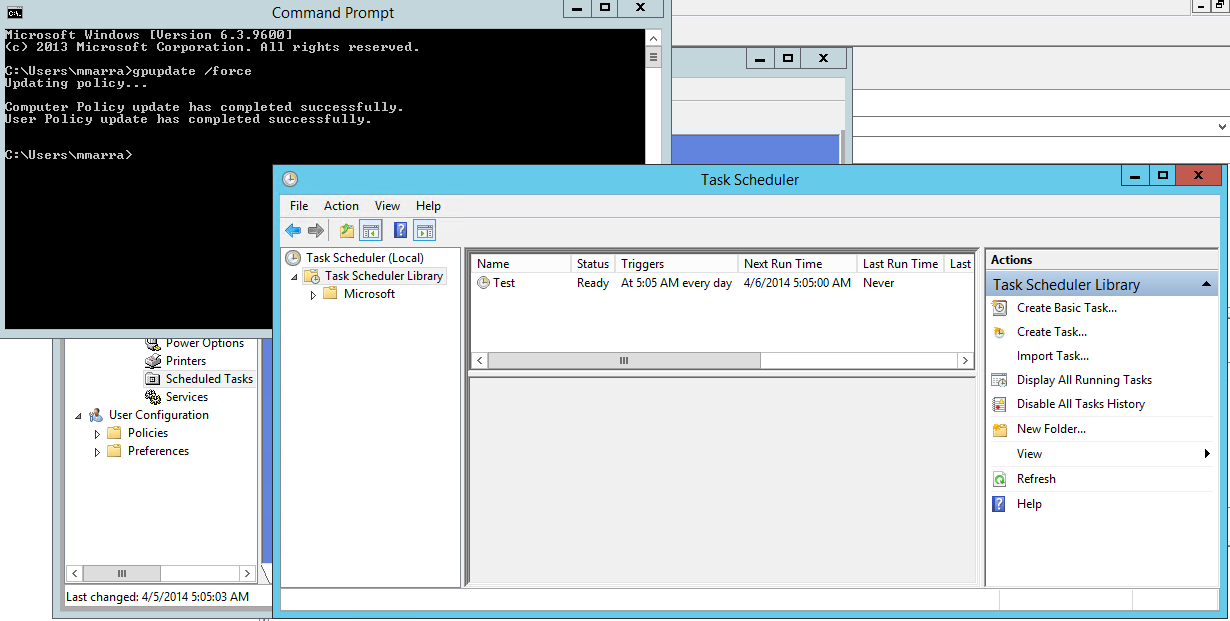 Managing Scheduled Tasks from Group Policy