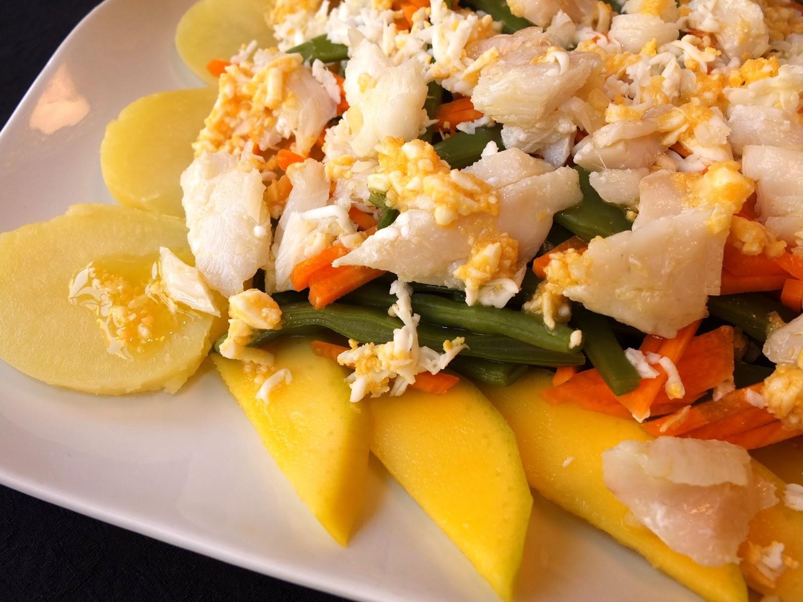 Cocinando con lola garc a ensalada de jud as verdes y bacalao for Cocinar judias verdes