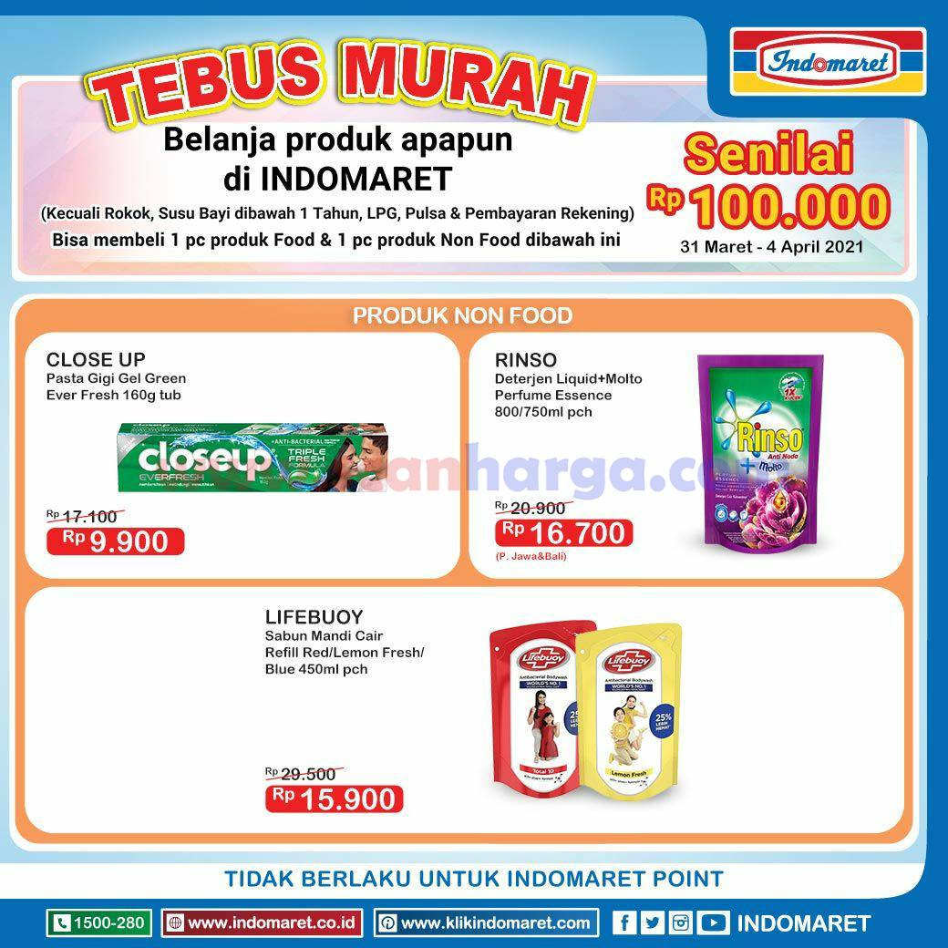INDOMARET Promo TEBUS MURAH 31 Maret - 4 April 2021 4