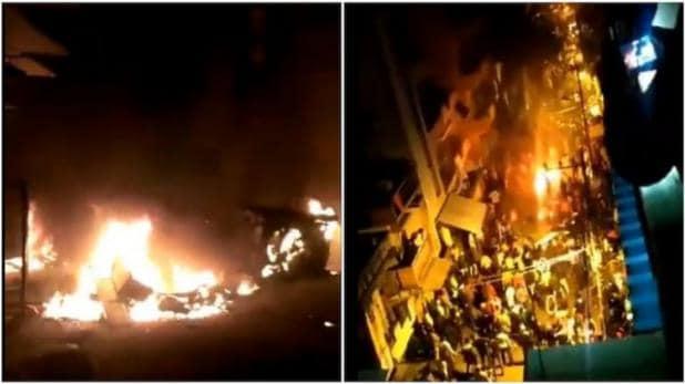 Bangalore Violence: Muslim mob burns down police station, Dalit Congress MLA's residence over