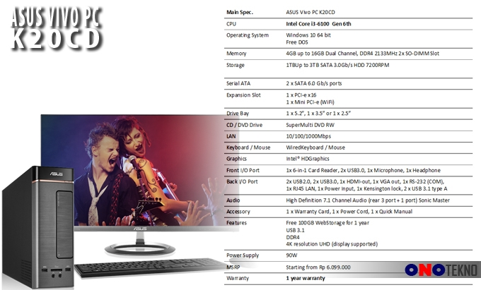 ASUS VIVO PC K20CD