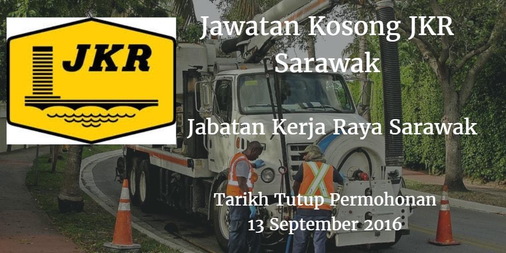 Jawatan Kosong JKR Sarawak 13 September 2016