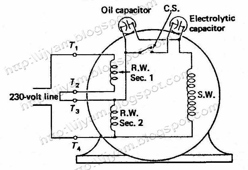 Electrical Control Circuit Schematic Diagram Of Two Value Capacitor