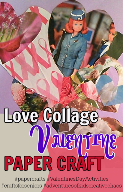 Heart Construction Paper Craft for Valentines Day for seniors retirement homes kids