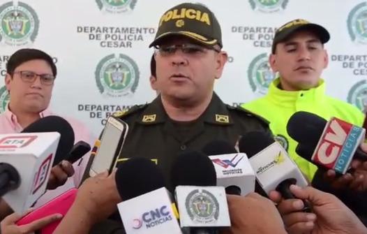 hoyennoticia.com,  Coronel Jesús Manuel de los Reyes: En el Cesar bajó índice delincuencial