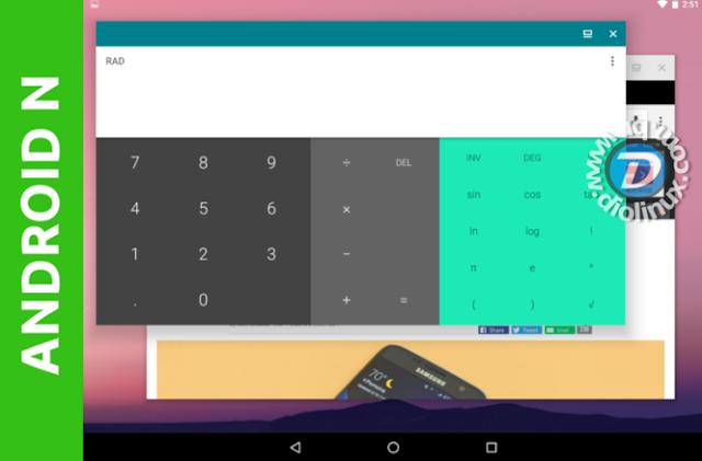 Android N em modo janela